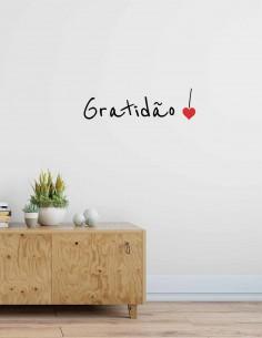 Adesivo de Parede Gratidão
