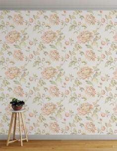 Papel de Parede Floral Em...