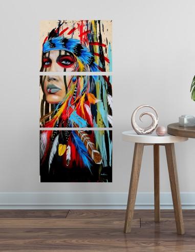 Conjunto de 3 telas quadro decorativo...