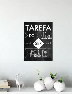 Quadro Decorativo Tarefa do...